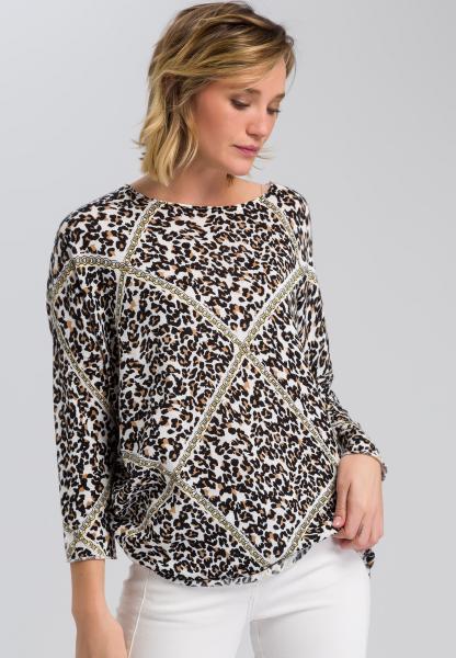 Pullover mit Leopardendruck samt Kette