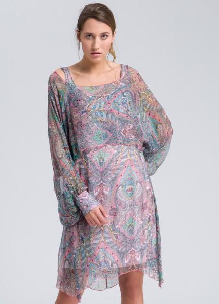 Kleid mit Fledermausärmeln
