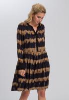 Kleid mit Batikstreifen