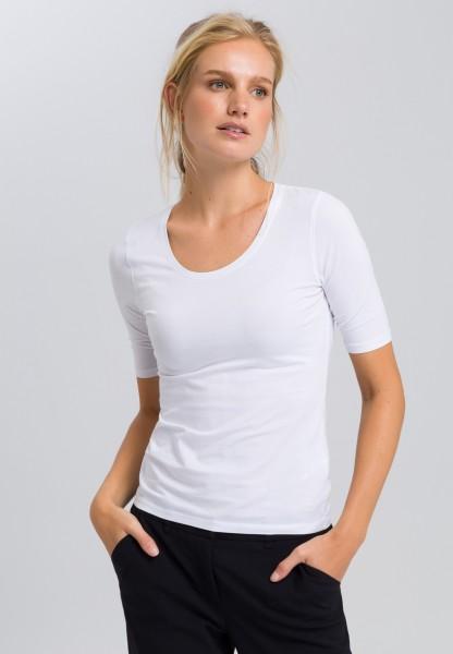 Basicshirt mit kurzen Ärmeln