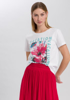 T-Shirt mit Aquarell-Frontprint