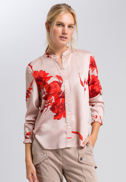Longbluse mit Blumenmuster