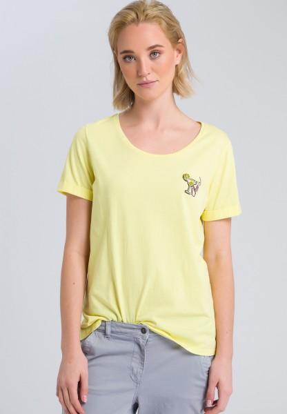T-Shirt mit Strassverzierung