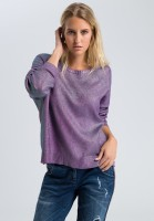 Pullover in Metallic-Optik