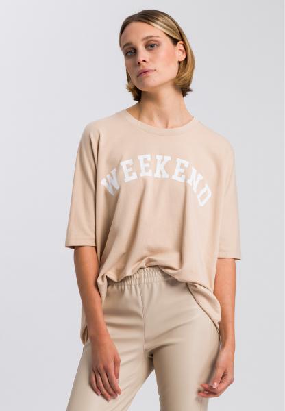 Sweatshirt mit Mottoprint