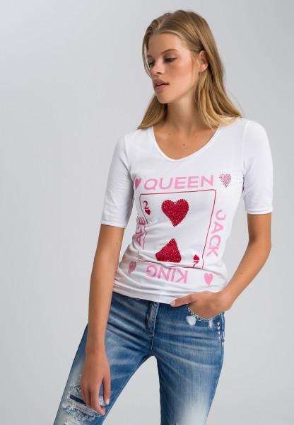 T-Shirt mit Nietenplättchen