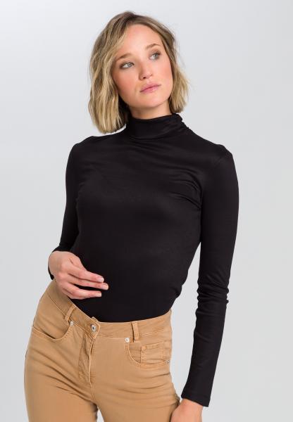 Shirt mit drappiertem Rollkragen