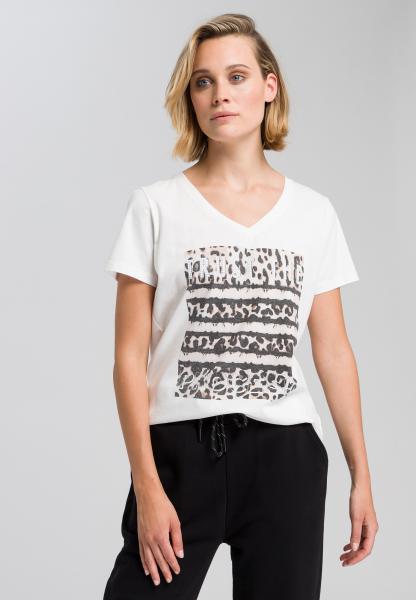 T-Shirt mit Leo-Frontprint