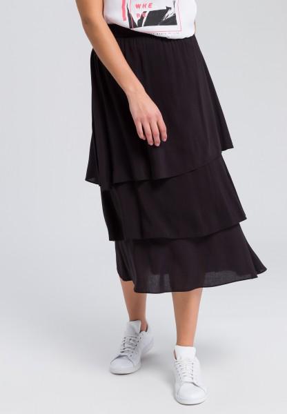 afc6572c7 Midi skirt with a layered flounce hem | Dresses & Skirts | Fashion