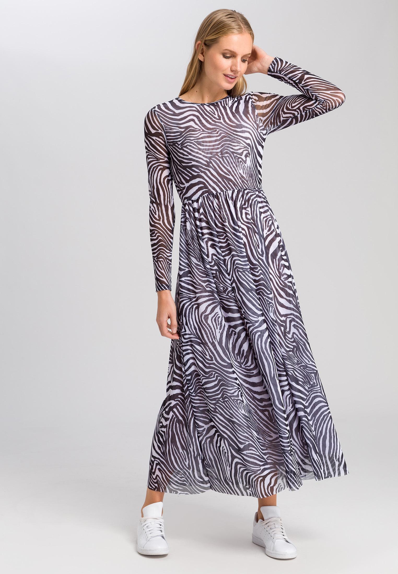 jerseykleid mit zebra-print