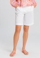 Shorts mit doppelten Bundfalten