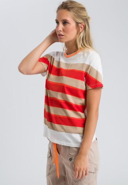 T-Shirt mit Used-Look-Streifen