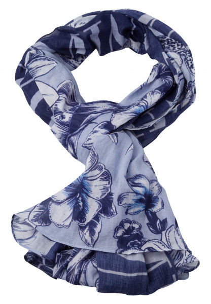 Rechteckiges Tuch mit floralem Patchworkmuster