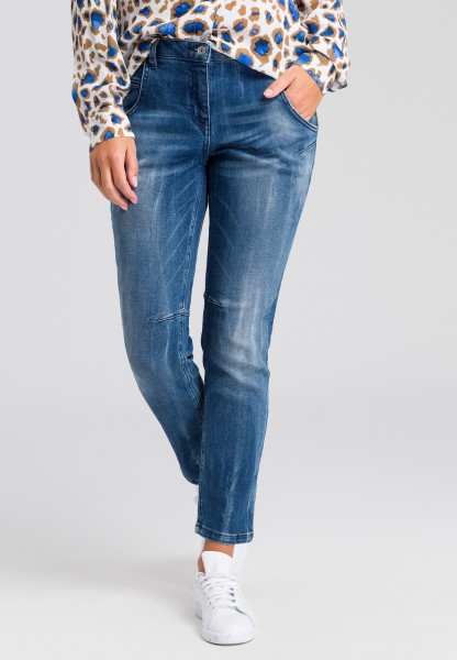 Loose Fit Jeans im Blue Denim Look